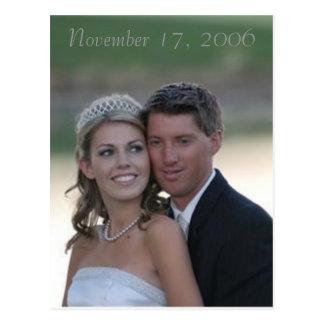 Cartão Postal wedding, o 17 de novembro de 2006