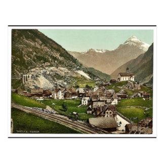 Cartão Postal Weggis, Rigi, clássico Photochrom da suiça