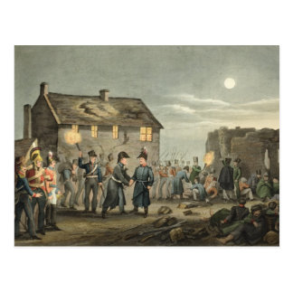 Cartão Postal Wellington e Blucher que encontram-se