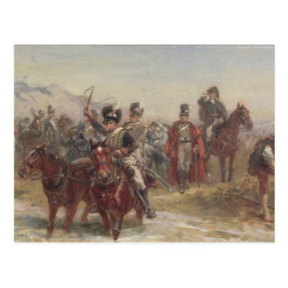 Cartão Postal Wellington na espanha (óleo no painel) (par de
