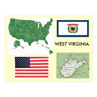 Cartão Postal West Virginia, EUA