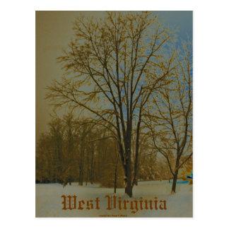 Cartão Postal West Virginia na neve