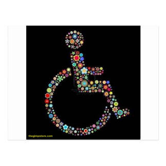 Cartão Postal wheelchair_funky_zazzle.jpeg