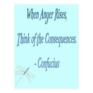 Cartão Postal *When citações de Confucius das elevações da