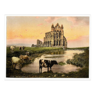Cartão Postal Whitby, a abadia, III., Yorkshire, Inglaterra P