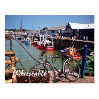 Cartão Postal Whitstable pitoresco de pesca ido Kent Reino Unido