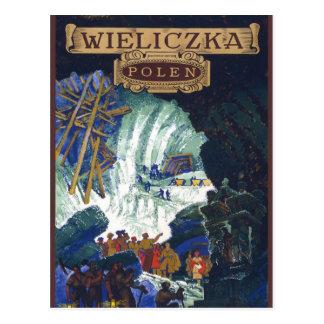 Cartão Postal Wieliczka Polen/arte da mina de sal viagem do