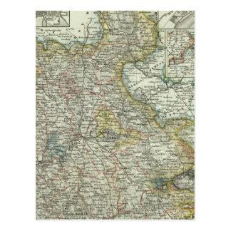 Cartão Postal Wiesbaden e Francoforte Alemanha