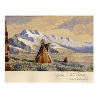 Cartão Postal Wigwam de indianos do Ute, Salt Lake City