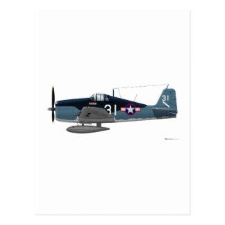 Cartão Postal Wildcat de Grumman F-6F