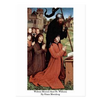 Cartão Postal Willem Moreel e St. William por Hans Memling