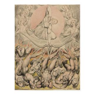 Cartão Postal William Blake: Carcaça de anjos rebelde ao inferno