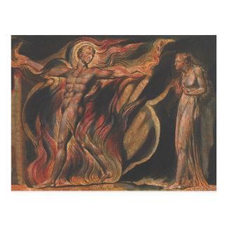Cartão Postal William Blake - Jerusalem, placa 26, tais visões