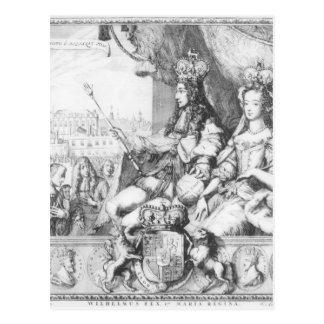 Cartão Postal William III e Mary II