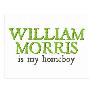 Cartão Postal William Morris é meu ficar em casa