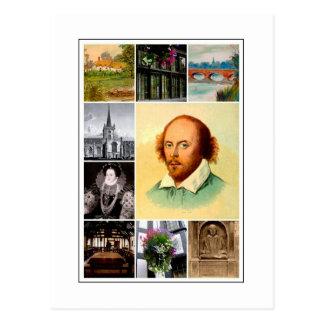 Cartão Postal William Shakespeare & Stratford-em cima-Avon