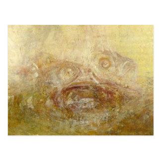 Cartão Postal william Turner - nascer do sol com monstro de mar
