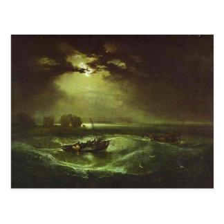 Cartão Postal william Turner - pescadores no mar