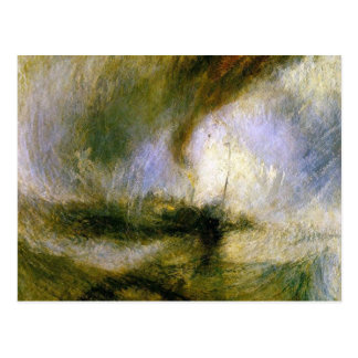Cartão Postal william Turner - tempestade de neve