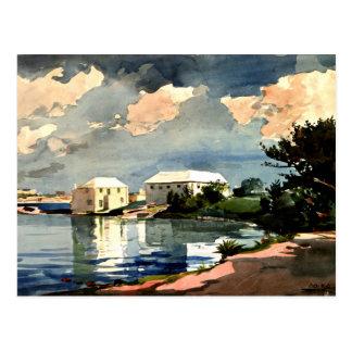 Cartão Postal Winslow Homer - chaleira de sal, Bermuda