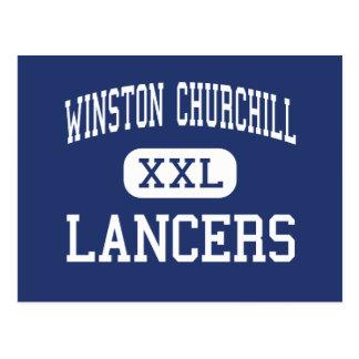 Cartão Postal Winston Churchill - lanceiros - alto - Eugene