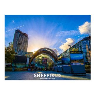 Cartão Postal Wintergarden de Sheffield