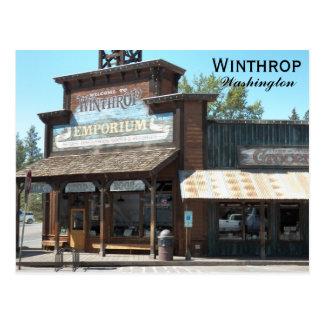 Cartão Postal Winthrop, viagem de Washington