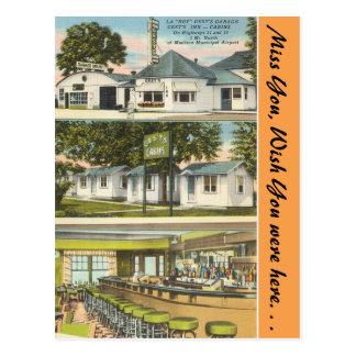 Cartão Postal Wisconsin, garagem de Gest, pensão & cabines,