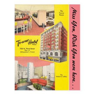 Cartão Postal Wisconsin, hotel de Towne, Milwaukee