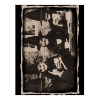 Cartão Postal Witches Tea festa - old black/white