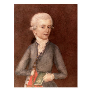 Cartão Postal Wolfgang Amadeus Mozart, c.1780
