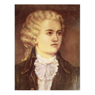 Cartão Postal Wolfgang Amadeus Mozart durante sua estada