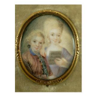 Cartão Postal Wolfgang Amadeus Mozart e sua irmã