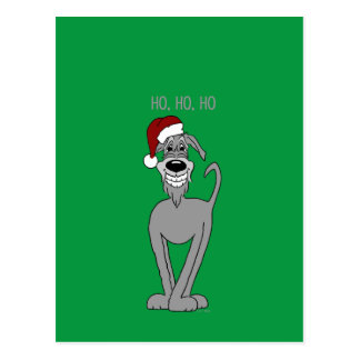 Cartão Postal Wolfhound irlandesa Santa