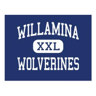 Cartão Postal Wolverines Willamina médio Oregon de Willamina