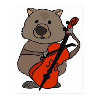 Cartão Postal Wombat engraçado que joga desenhos animados do