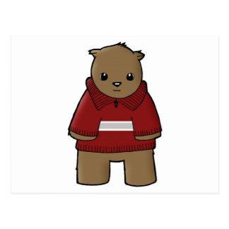 Cartão Postal wombat na camisola com JPEG da listra