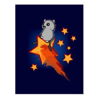 Cartão Postal Wombat que monta uma estrela de tiro