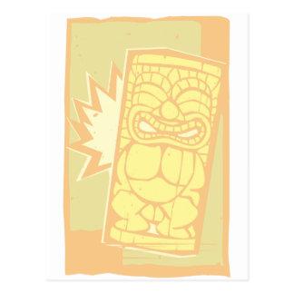 Cartão Postal Woodcut Tiki A