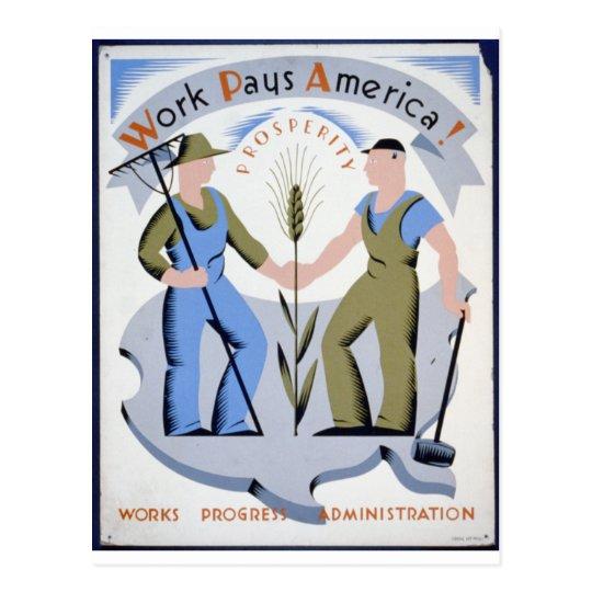Cartão Postal Work Pays America