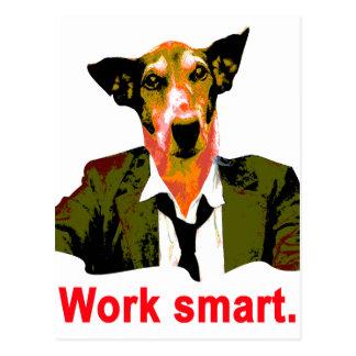 Cartão Postal Work smart