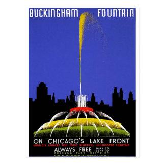 Cartão Postal WPA - fonte de Buckingham