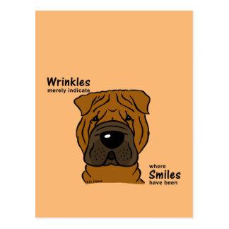 Cartão Postal Wrinkles merely indicate smiles