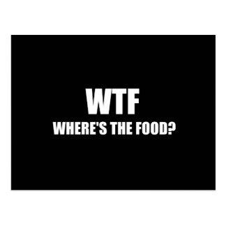 Cartão Postal WTF Wheres a comida