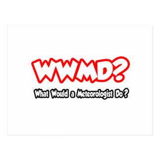 Cartão Postal WWMD… o que um meteorologista faria?