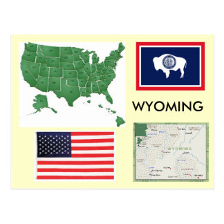 Cartão Postal Wyoming, EUA