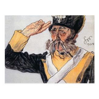 Cartão Postal Wyspianski, Ludwik Solski como um veterano, 1904