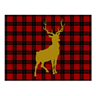 Cartão Postal Xadrez dos cervos