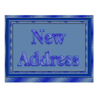 Cartão Postal Xadrez nova do azul do endereço