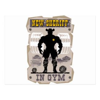 Cartão Postal xerife novo no gym